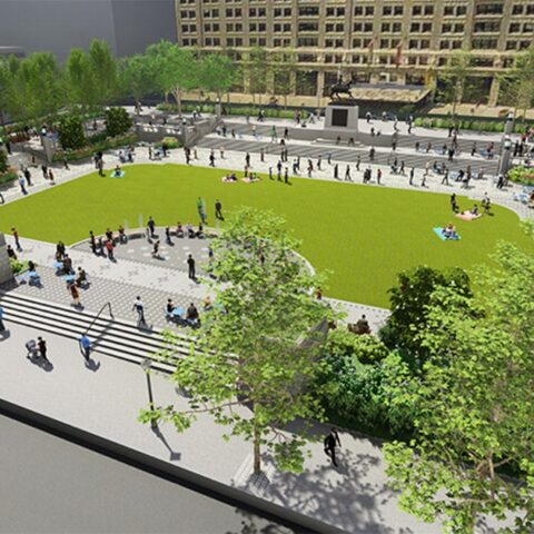 Rendering of Rodney Square Renovation in Wilmington DE