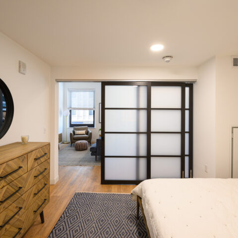 1 bedroom apartment with sliding doors at 101 dupont place wilmington delaware