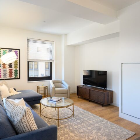 living room in 101 dupont place 2 bedroom apartment wilmington delaware