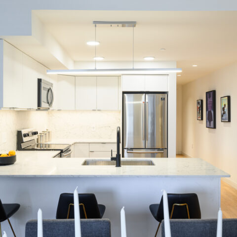 kitchen with stainless steel appliances in 101 dupont place 2 bedroom apartment wilmington delaware